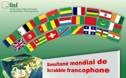 31e Simultané mondial (3mn/coup) du 11 janvier : environ 6.000 scrabbleurs francophones ont disputé les 2 mêmes parties !